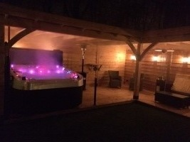 Jacuzzi evening night time